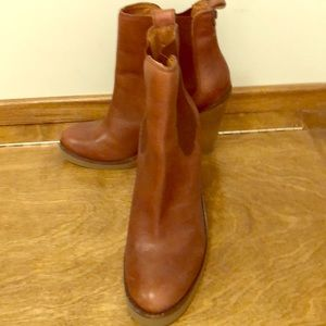 Lucky brand leather leather booties